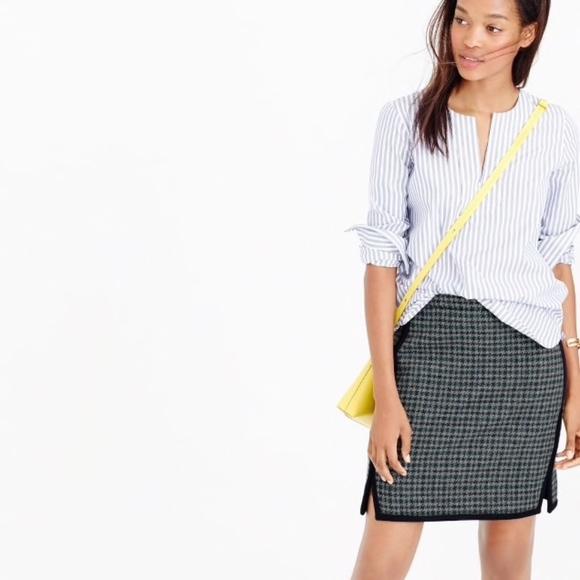 J. Crew Dresses & Skirts - J.Crew Houndstooth Wool Flannel Mini Skirt